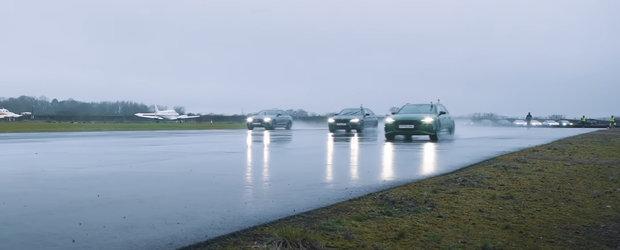 Sefii de la BMW si Mercedes se ascund in case de rusine. Un Audi mai slab le-a facut de ras masinile