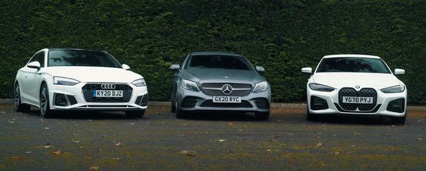 Sefii de la Mercedes si Audi rad, cel mai probabil, in hohote. Cum arata noul BMW Seria 4 pus langa C-Class si A5 Coupe