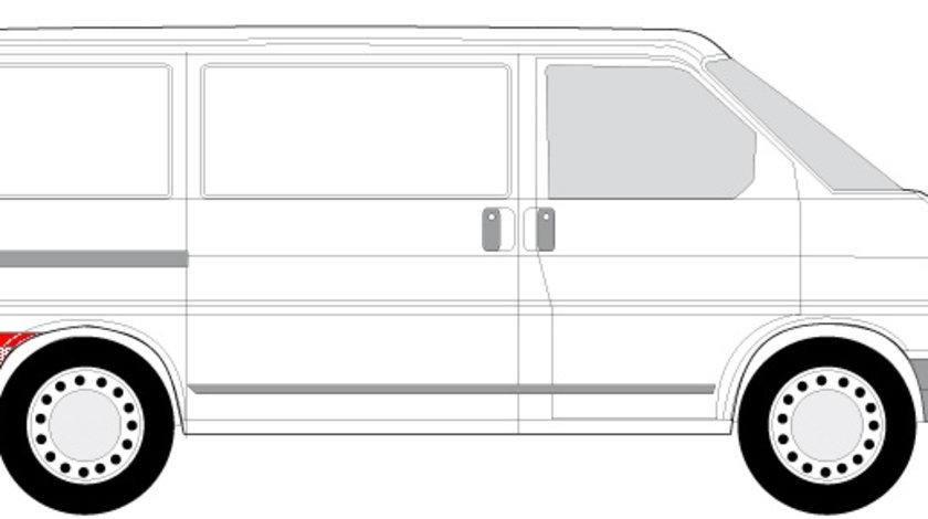 Segment reparatie aripa spate dreapta dupa roata VW TRANSPORTER IV intre 1990-2003