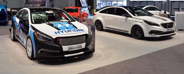 SEMA 2014: Standul Hyundai abunda in exemplare cu sute de CP sub capota