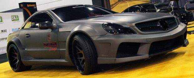SEMA Show 2010: Mercedes-ul SL de la Platinum Motorsport arata ca un avion F-117 Nighthawk