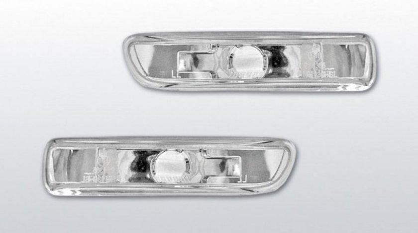Semnale aripa BMW E46 model Non-Facelift sticla Cromat