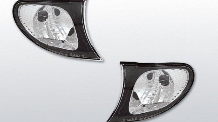 Semnale fata BMW E46 2001-2005 Sedan / Touring cu rama Neagra