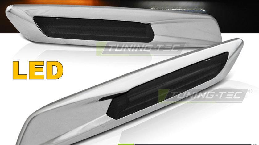 Semnalizari laterale BMW E60/ E90/ E92/ E82 LED F10 STYLE Fumuriu Cromat
