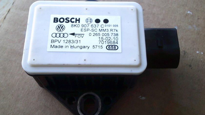 Senzor ESP Audi A5, Audi A4 B8 , cod 8K0907637C