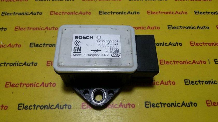 Senzor ESP Renault Trafic 0265005807, 8200819024