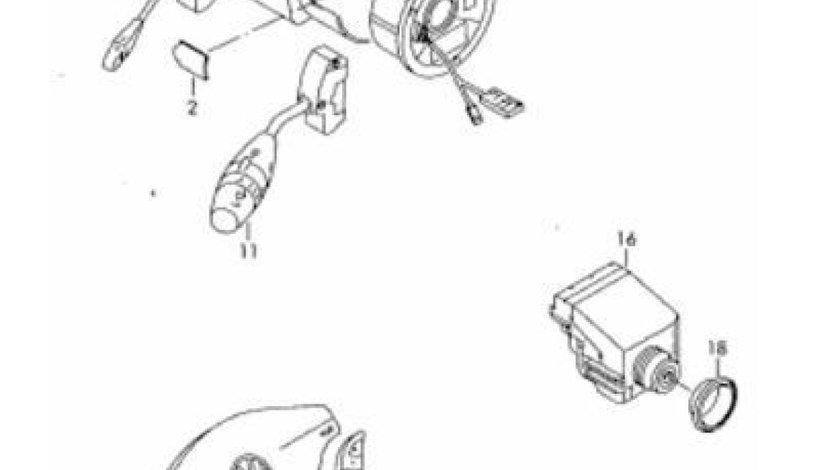 Senzor ESP si senzor directie, pe coloana de directie Vw Crafter VW OE 2E0 419 693 C