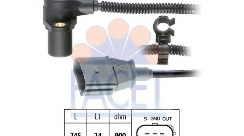 Senzor impulsuri, arbore cotit AUDI A6 (4B2, C5) (1997 - 2005) FACET 9.0267 produs NOU