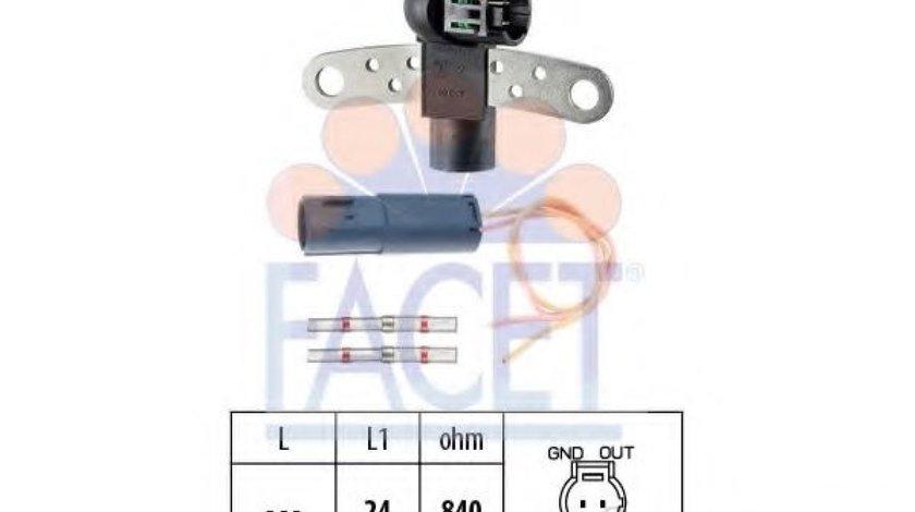 Senzor impulsuri, arbore cotit RENAULT CLIO II (BB0/1/2, CB0/1/2) (1998 - 2005) FACET 9.0199K produs NOU