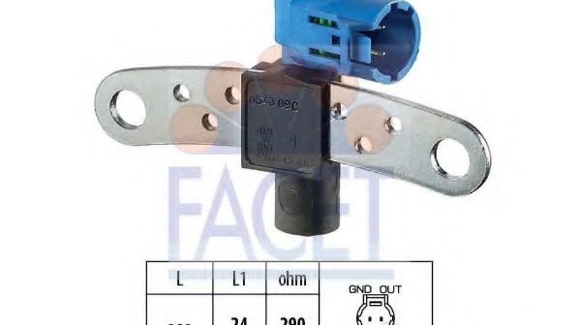 Senzor impulsuri, arbore cotit RENAULT CLIO II (BB0/1/2, CB0/1/2) (1998 - 2005) FACET 9.0543 produs NOU