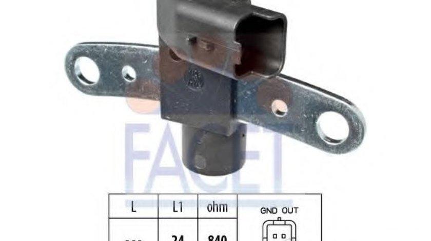 Senzor impulsuri, arbore cotit RENAULT CLIO III (BR0/1, CR0/1) (2005 - 2012) FACET 9.0600 produs NOU