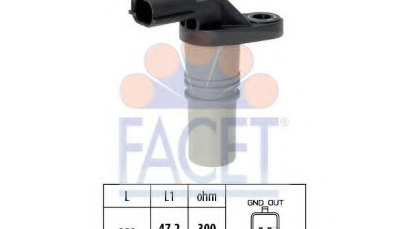 Senzor impulsuri, arbore cotit RENAULT CLIO III Grandtour (KR0/1) (2008 - 2012) FACET 9.0646 produs NOU