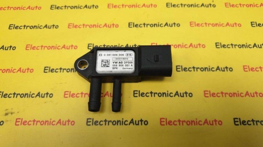 Senzor presiune filtru particule Audi, Vw, Seat, Skoda 059906051A, 0281006006