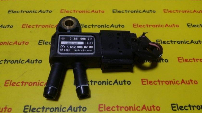 Senzor Presiune Filtru Particule Mercedes Sprinter, 0281006214, A6429050200
