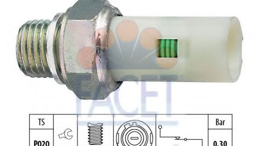 Senzor presiune ulei VOLVO V40 Combi (VW) (1995 - 2004) FACET 7.0076 piesa NOUA
