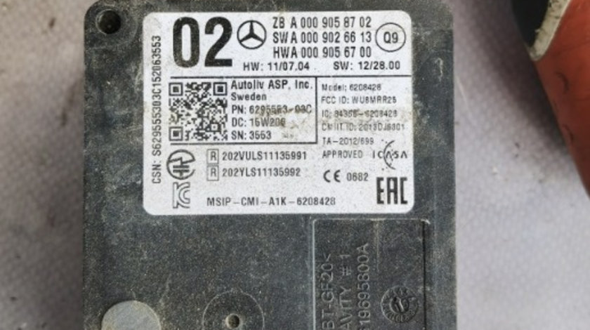 Senzor radar Mercedes S350 cdi w222 A0009058702