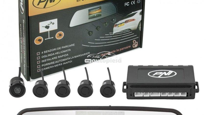 Senzori parcare auto cu afisaj in oglinda si camera marsarier PNI PNI P05 produs NOU