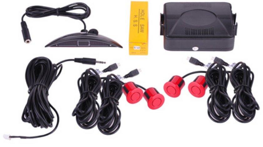 Senzori parcare cu patru senzori rosu