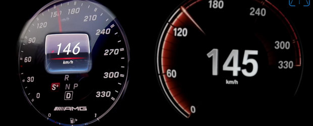Seria 7 cu motor V12 versus S63 AMG: batalia limuzinelor de lux se da pana la 315 km/h. Care ajunge prima