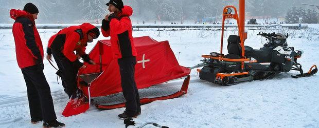 Serviciul Salvamont Brasov primeste un ATV si o sanie tractabila medicala