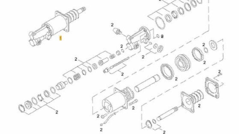 Servoambreiaj Man F2000 motor 12.8 TD cutie viteza ZF PNEUMATICS 81.30725-6065