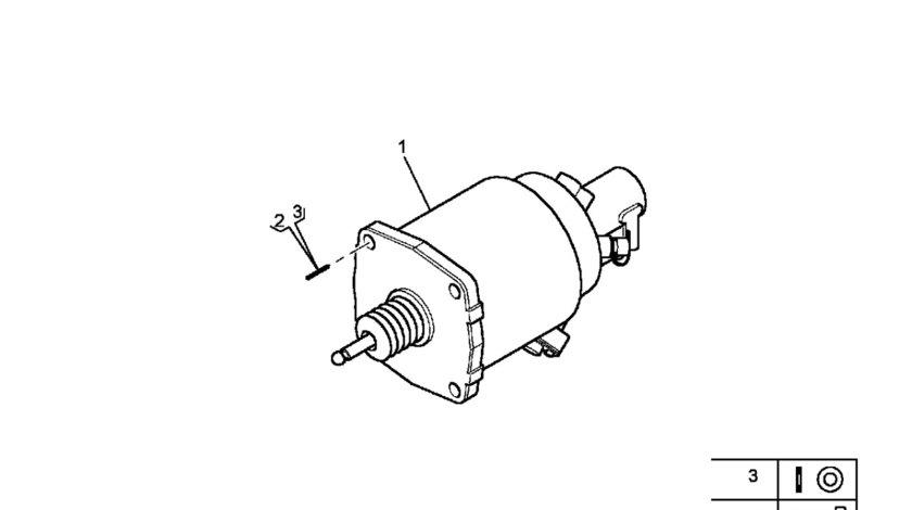 Servoambreiaj Renault Midlum motor 4120 cmc WABCO 5010452472