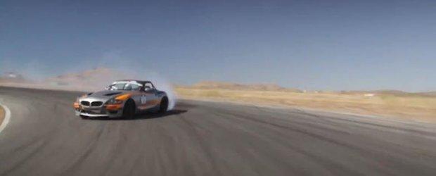 Sesiune de drift in mijlocul desertului cu Mike Essa si al sau BMW Z4