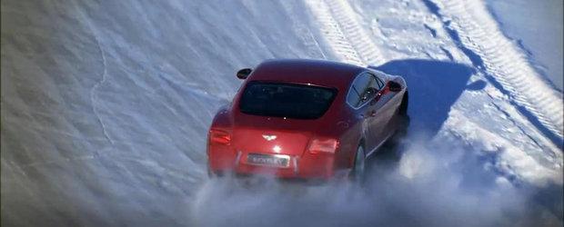 Sesiune de drifturi pe gheata cu Juha Kankkunen si Bentley Continental GT V8