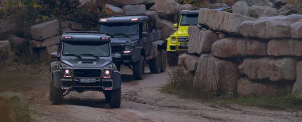 Sesiune de off-road cu 3 dintre cele mai tari Mercedes-uri G-Class pe care banii le pot cumpara