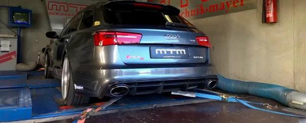 Sesiune dyno cu un Audi RS6 de 722 cai putere