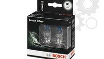 Set 2 becuri bosch h1 xenon silver 12v 55w