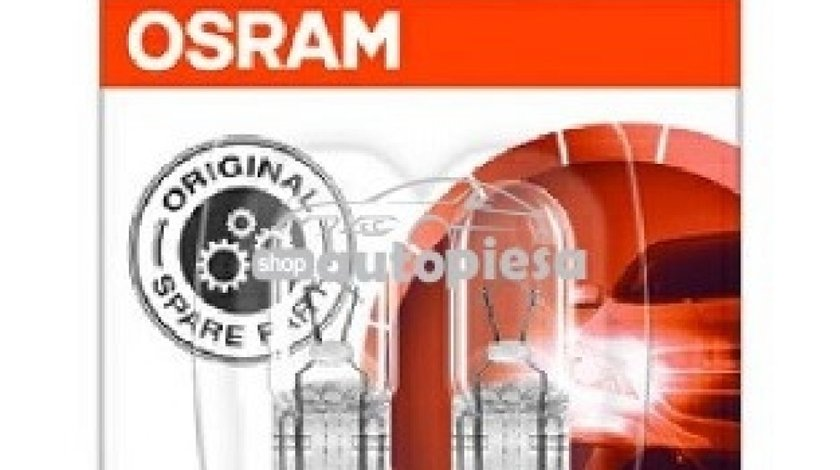 Set 2 becuri Osram W5W 12V 5W 2825-02B piesa NOUA