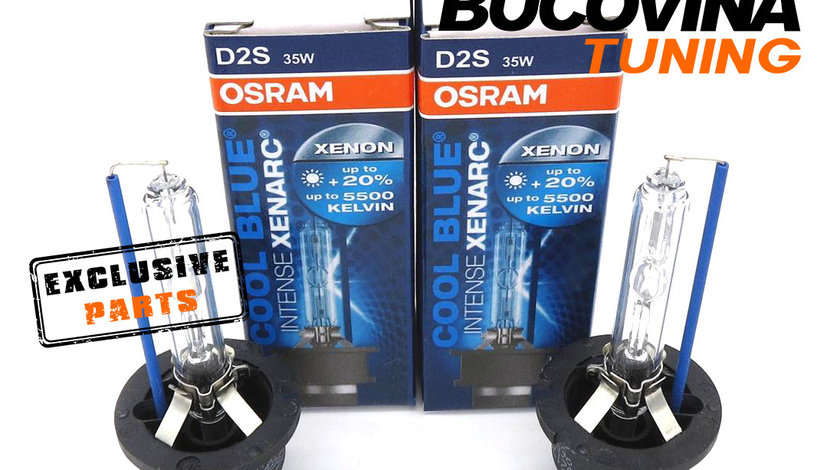 SET 2 BECURI XENON D2S OSRAM COOL BLUE INTENSE XENARC