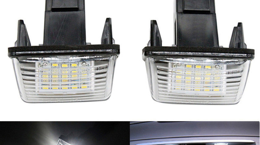 Set 2 buc Lampi număr Peugeot 206 207 407 306 Citroen C3 C4 C6