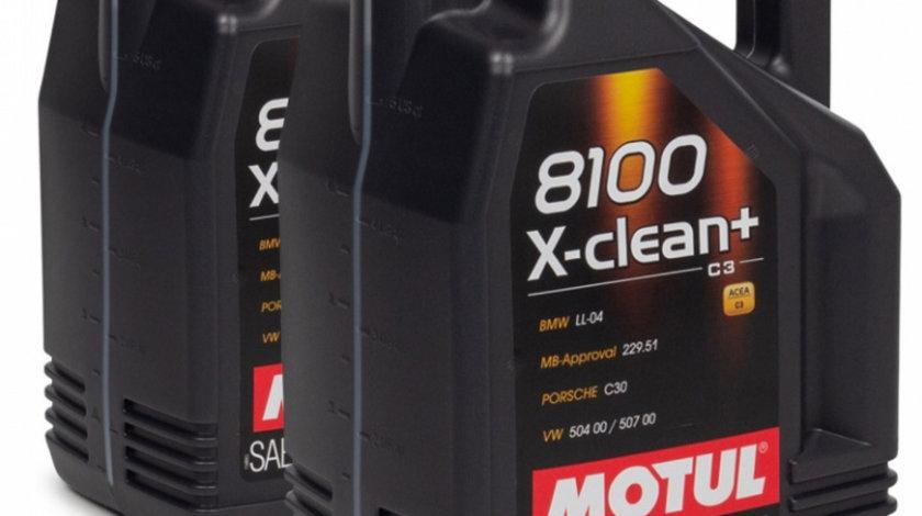 Set 2 Buc Ulei motor Motul 8100 X-Clean+ 5W-30 5L