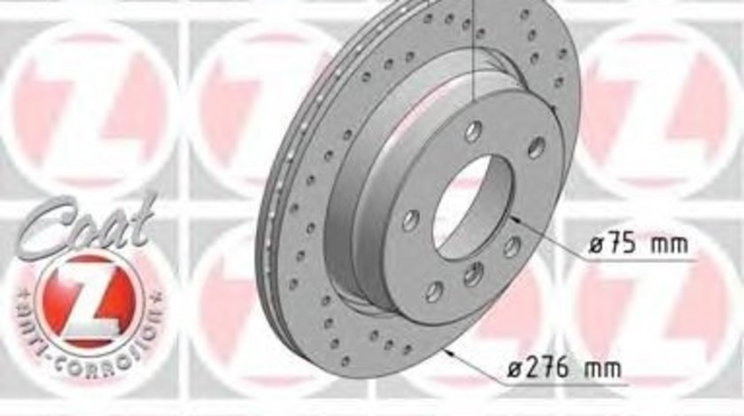 Set 2 discuri frana spate zimmermann R276 pt bmw 3(e36),3(e46)