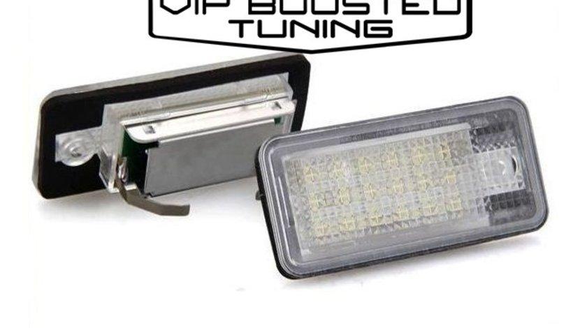 Set 2 lampi numar led canbus dedicate Audi Q7