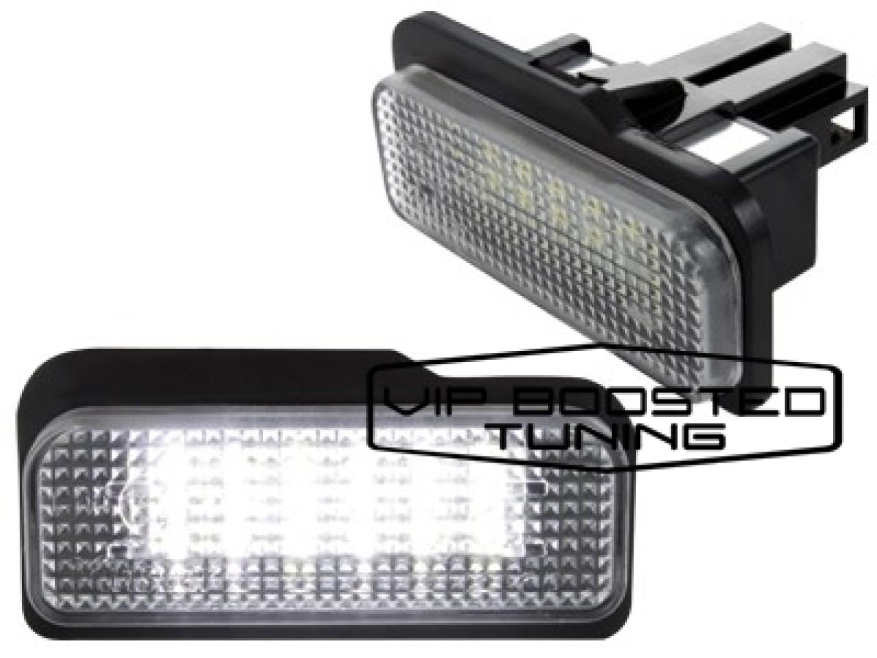 Set 2 lampi numar led canbus dedicate MERCEDES Clasa E W211 2003-2008