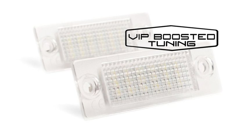 Set 2 lampi numar led canbus dedicate VW Caddy  2003-2009