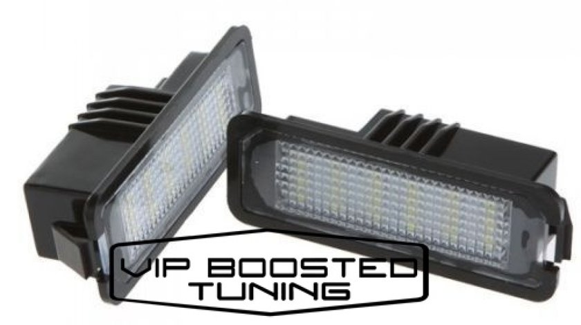 Set 2 lampi numar led canbus dedicate VW Passat B6 Sedan 2006-2009