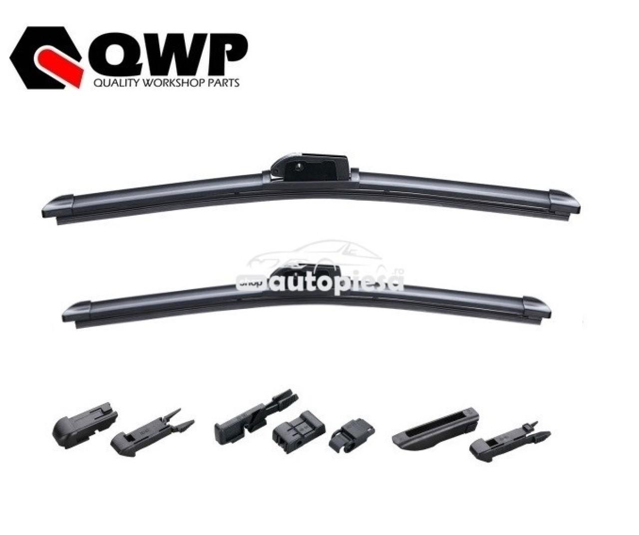 Set 2 stergatoare parbriz tip Aerotwin Mercedes-Benz S-CLASS (W221) 2005 -> QWP WBF066 / WBF066 piesa NOUA