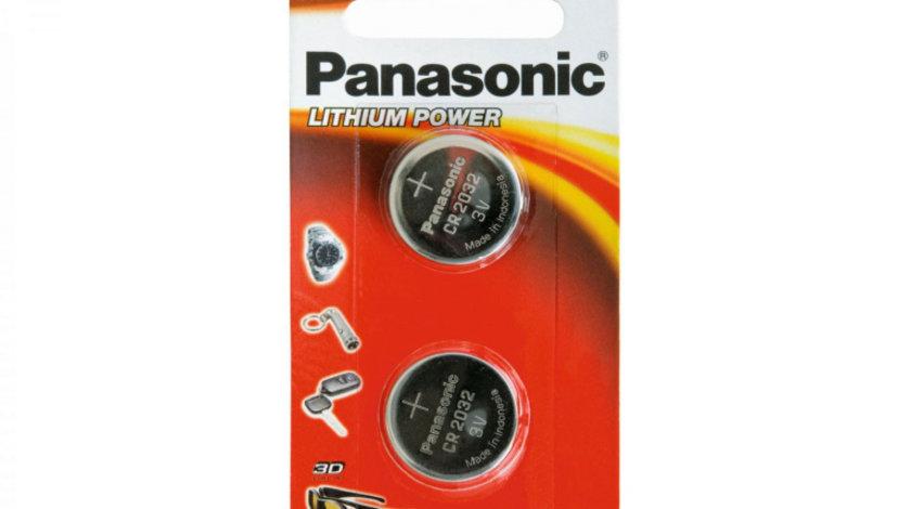 Set 2 x baterie 3V CR 2032 pentru telecomanda auto, Panasonic
