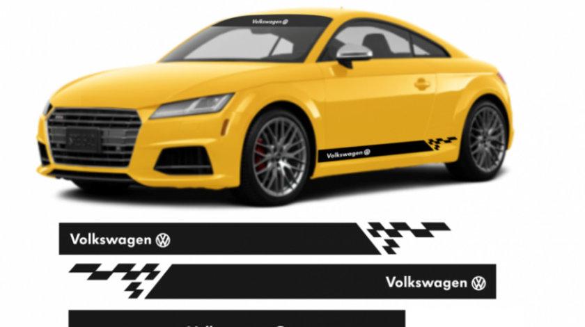 Set 5 stickere Volkswagen aplicare pe capota – luneta – laterale Modern Tuning