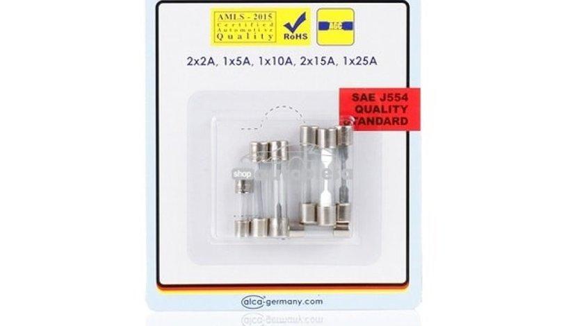 Set 7 sigurante fuzibile de sticla 2A - 25A ALCA 08337 piesa NOUA