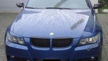 Set ABS ornamente pleoape faruri BMW E90 E91 plast...