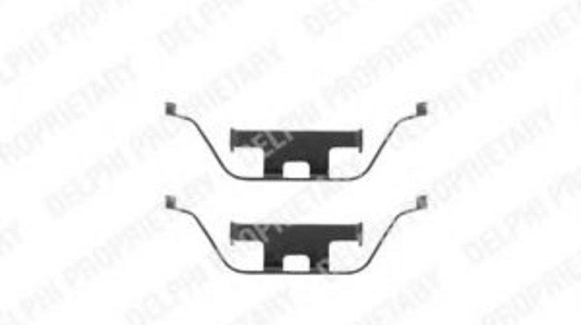 Set accesorii, placute frana BMW Seria 6 (E63) (2004 - 2010) DELPHI LX0295 piesa NOUA