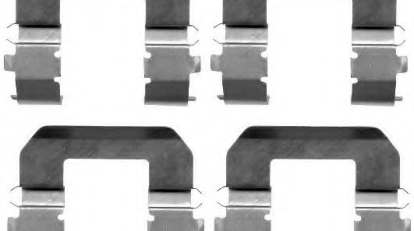 Set accesorii, placute frana HYUNDAI ELANTRA limuzina (HD) (2005 - 2011) TEXTAR 82071600 piesa NOUA