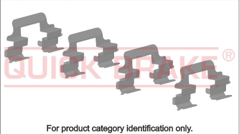 Set accesorii placute frana NISSAN QASHQAI / QASHQAI +2 J10 JJ10 Producator OJD QUICK BRAKE 109-1736