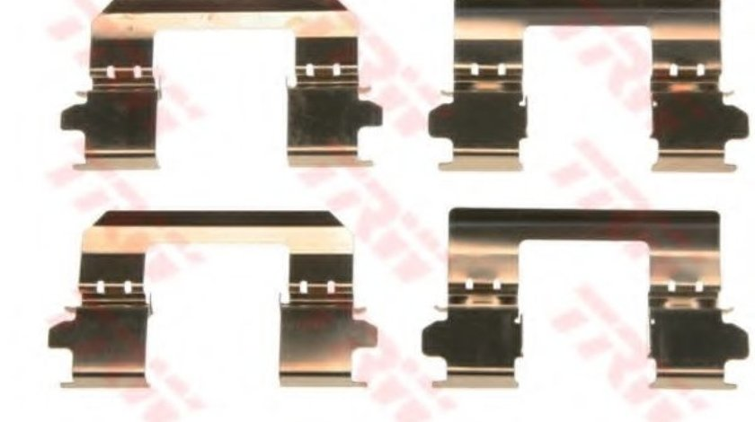 Set accesorii, placute frana NISSAN QASHQAI / QASHQAI +2 (J10, JJ10) (2007 - 2013) TRW PFK578 piesa NOUA