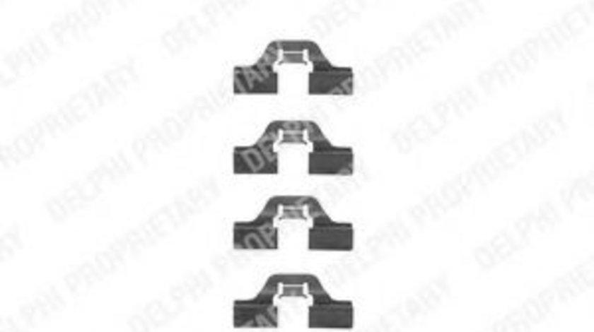 Set accesorii, placute frana PEUGEOT PARTNER combispace (5F) (1996 - 2012) DELPHI LX0307 piesa NOUA
